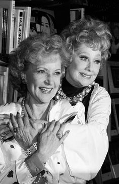 Betty White and Lucille Ball, 1987. 2 of the most amazing women. Two of my favorite ladies :)