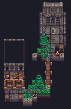 Title: Unnamed roguelike mock-up Pixel Artist: Thu Pretty Drawings, Art Drawings, Pixel Art Games, Pixel Design, 2d Art, Video Game Art, Texture Art, Game Design, Art Images