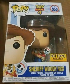 Funko Pop! Disney Toy Story 4: WOODY HOLDING FORKY-HOT TOPIC Exclusive PREORDER! #afflink Contains affiliate links. When you click on links to various merchants on this site and make a purchase this can result in this site earning a commission. Affiliate programs and affiliations include but are not limited to the eBay Partner Network. Funko Pop Toys, Funko Pop Vinyl, Pop Vinyl Figures, Funko Pop Figures, Stranger Things Funko Pop, Videos Kawaii, Funk Pop, Disney Pop, Pop Characters