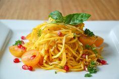 butternut squash and zucchini pasta (spiralizer)