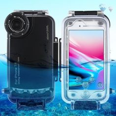HAWEEL iPhone 7 Plus/ 8 Plus Underwater Housing Diving Case Professional Waterproof for Surfing Swimming Snorkeling Photo Video No Reflection + Lanyard (iPhone 7 Plus/ 8 Plus, Black) Snorkeling, Waterproof Iphone Case, Underwater Photos, Plus 8, Best Phone, Protective Cases, Iphone 7 Plus, Iphone Cases