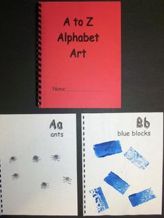 Ideas for alphabet art.  Would be great to do this with each letter and then they can bring home the book at the end of the year!