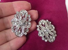 crystal wedding brooch bridal brooch pin by nefertitijewelry2009, $16.00