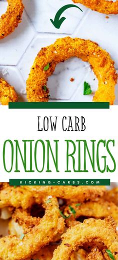 These Low Carb Onion Rings are easily my favorite low carb onion rings recipe that I've ever made. It is so crispy and full of flavor. Make this one for your next family gathering, and you will have a glow of satisfaction that comes from serving something that everyone loves. Stir Fry Recipes, Low Carb Recipes, Onion Rings Air Fryer, Radish Chips, Steak Sides, Steak And Onions, Low Carb Vegetables, Low Carb Side Dishes, Best Comfort Food