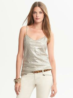 fun NYE party top @Banana Republic and 40% off until 12/20 !