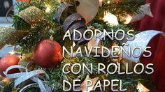 ADORNOS NAVIDEÑOS CON ROLLOS DE PAPEL