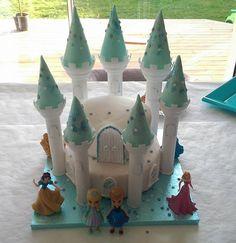 Gâteau Château reine des neiges - Watercolor Cake