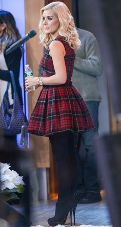 whats prettier? catherine jenkins or the tartan dress from McQ by Alexander McQueen dress