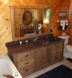 Create Photo Gallery For Website Rustic pine vanity for bathroom