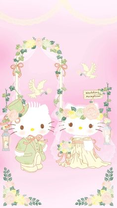 Sanrio Wallpaper, Hello Kitty Wallpaper, Kawaii Wallpaper, Wallpaper Stickers, Hello Kitty Wedding, Hello Kitty Birthday, Hello Kitty Themes, Hello Kitty Pictures, Melody Hello Kitty