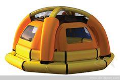 Sea Kettle: A life raft that desalinates sea water.