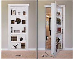 Murphy Door Hardware Kit Flush-Mount Murphy Door Hardware Kit - Hardware For bedroom door at bottom of master stairs.Flush-Mount Murphy Door Hardware Kit - Hardware For bedroom door at bottom of master stairs. Home, Bookcase Door, Bedroom Doors, Bedroom Design, Home Door Design, House Doors, House, Hidden Rooms, Remodel Bedroom