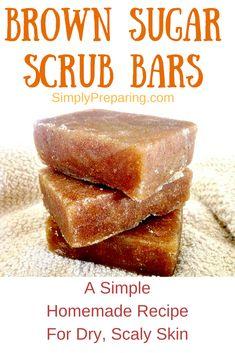 Homemade Organic Brown Sugar Scrub Bar - Simply Preparing