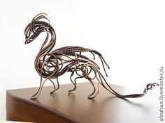 Handmade wire dragon