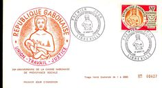 Gabon Breastfeeding stamp and postcard