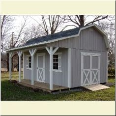 Whether you need a small barn for backyard storage, a large out building, or a shelter for your horses Amish Buildings has you covered. Our amish built barns range from the most simple and affordable storage models to actual barn style homes. Backyard Sheds, Outdoor Sheds, Backyard Patio, Shed Plans 12x16, Free Shed Plans, Shed Conversion Ideas, Goat Shed, Shed With Porch, Barn Storage