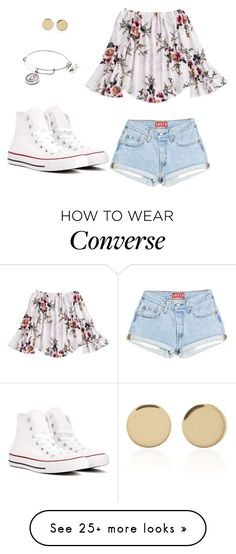 """""""Girls day out"""" by maddie-mac on Polyvore featuring Converse, Magdalena Frackowiak and Alex and Ani"""
