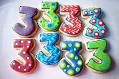 Decorated Numerical Cookies | Festive Numbers | Baked Happy