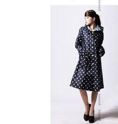 Free Shipping Cute Rain Coat for women Raincoat Rainwear/Rainsuit, Waterproof 98CM non toxic dot japanese Raincoat with handbag-in Raincoats from Home & Garden on Aliexpress.com   Alibaba Group #RaincoatsForWomenNavy