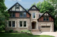 Welcome to StoneRox - - a superior, manufactured stone veneer. Our products are designed for both residential & commercial properties. Stone Veneer Panels, Manufactured Stone Veneer, Stone Gallery, Tudor House, Traditional Exterior, House Colors, Color Mixing, Mansions, House Styles