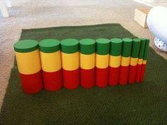 Nuestra historia Montessori: Extensiones gratis Knobless Cilindro