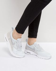 Nike Air Max Thea Premium Trainers In Grey Faux Snake | Schlange | Grau | Hellblau | Light Blue | Turnschuhe | Sneakers | Laufschuhe
