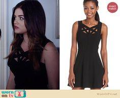 Aria's black cutout dress on Pretty Little Liars.  Outfit Details: http://wornontv.net/34028/ #PLL