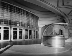 (1939)**# - Academy Theatre, Inglewood. Art Moderne design ticket booth and entry doors.