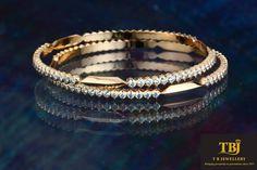 To compliment your silks. Gold and diamond bangles. #Diamondjewellery #dailywearjewellery #gold #diamondbangle #diamonds #bangle #tbjewellery #goldenmoments #closesetting #southindianjewelry