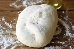 For your next pizza night at home, make Bobby Flay's homemade Pizza Dough recipe from Food Network, and finish it with your favorite toppings. No Yeast Pizza Dough, Best Pizza Dough, Pizza Recipes, Cooking Recipes, Flatbread Recipes, Cooking Tips, Perfect Pizza, Favourite Pizza, Galette
