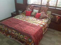 Well arranged pillows change the look of a bed. An entry received in #ThePerfectBed contest.