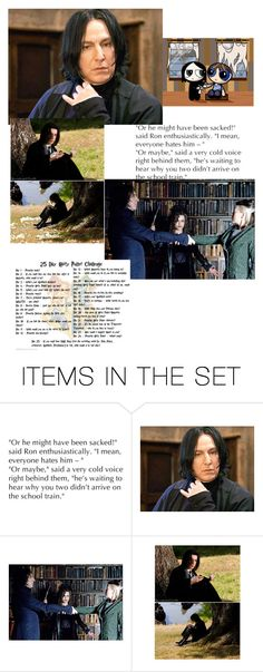 """""""Day 8: snape good guy done bad"""" by stella-de-luna-fashion ❤ liked on Polyvore featuring art"""