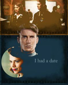 Steve Rogers- Captain America- and Peggy Carter.