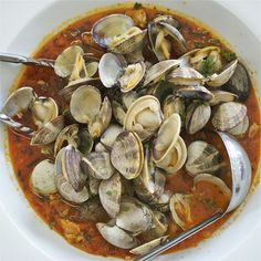 Steamed clams are delicious, but to my mind, these spicy steamed clams are even better. A bit of white wine transforms simple clams into a spectacular dish.