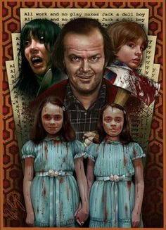 The Shining by _________________________________________ Sci Fi Horror Movies, Classic Horror Movies, Horror Movie Posters, Movie Poster Art, Scary Movies, Evil Eye Art, Stephen King Movies, Horror Artwork, Cinema
