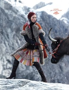 Eric Valli - Photographers - Advertising - Hermes An Indian Winter | Michele Filomeno