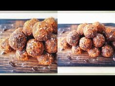 Almond Butter Chocolate Protein Balls - a great sweet snack to burn fat, have more energy & build muscle! www.julieslifestyle.com #RawFood #RawVegan #Vegan #DairyFree #GlutenFree #SugarFree #VeganProtein #Chocolate #ChocolateCandy #AlmondButter