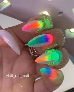 Gem Nail Designs, Nail Art Designs Videos, Cute Acrylic Nail Designs, Nail Art Videos, Diy Acrylic Nails, Gel Nails, Acryl Nails, Nail Salon Design, Nagellack Design