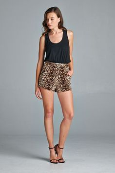 My Leopard Ways Short Romper www.gypzranch.com