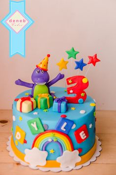 Amazing Barney Cake Design Birthday The Cake Boutique Personalised Birthday Cards Cominlily Jamesorg