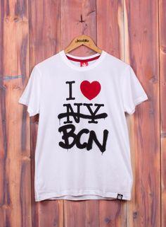 Kaotiko BCN – Moda hombre - CAMISETA M/C I LOVE BCN BLANCA