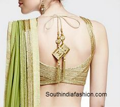 Latest Fashionable Saree Blouse Designs~Latest Blouse Designs~South India Fashion