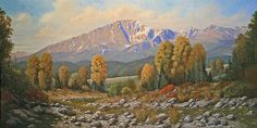 The Color of August: Pikes Peak. Painting by Kenneth Shanika.
