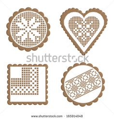 Find Collection of cartoon Christmas cookies (Gingerbread). Vector illustration Stock Images in HD and millions of other royalty-free stock photos, illustrations, and vectors in the Shutterstock collection. Onesie Cookies, Lace Cookies, Easter Cookies, Cupcake Cookies, Christmas Cookies, Christmas Candy, Gingerbread Icing, Christmas Gingerbread House, Royal Icing Templates
