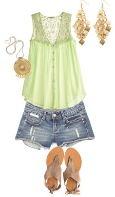 Those Summer Nights, created by bandandorchdork on Polyvore...but longer shorts please