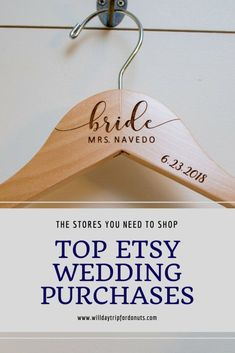 Etsy Wedding Purchases You Need to Buy - Will Daytrip For Donuts