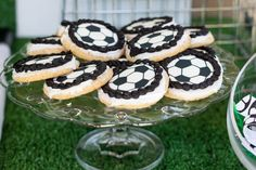 Pin for Later: A Soccer Party That's Sure to Score! Snack Break Monique turned to a local grocery story for these soccer-ball-shaped sugar cookies.  Source: Arica Grafton Photography