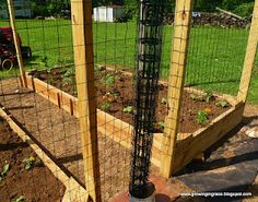 Raised garden beds fencing tutorial