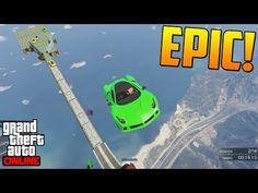 UNA CARRERA INTERESANTE + SALTO FINAL POCHO - GTA 5 Online Funny Moments (Carrera GTA V PS4) - YouTube