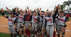 The red-hot Rebels took down nationally-ranked South Florida for the second time this weekend on Sunday. Softball Memes, Softball Uniforms, Softball Senior Pictures, Girls Softball, Softball Things, Softball Stuff, Girls Basketball, Senior Guys, Senior Photos